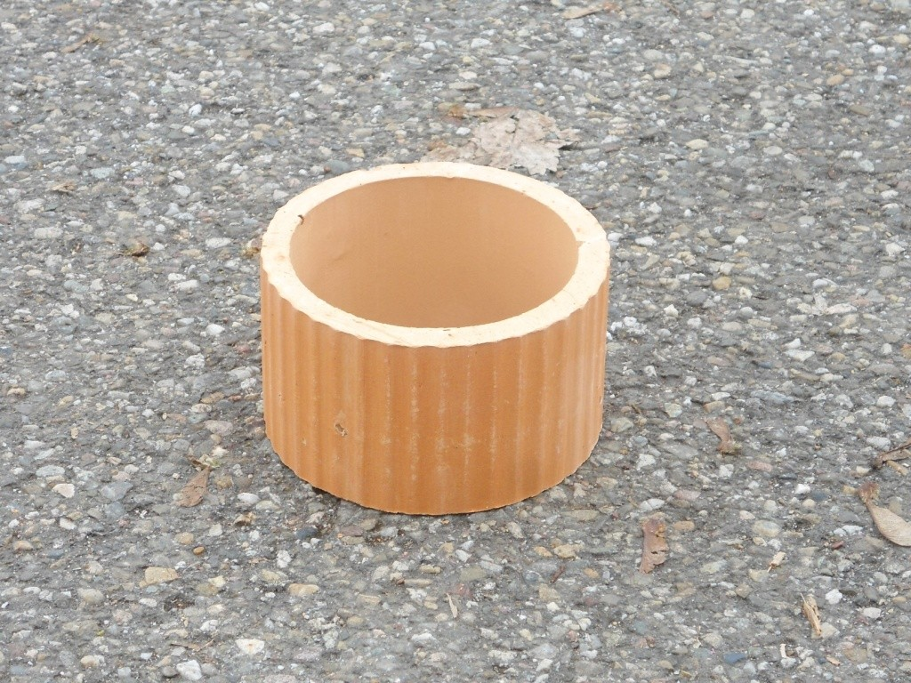 Cache Pour Conduit De Cheminée manchette de cheminée en terre cuite Ø 200 mm ht 120 mm.